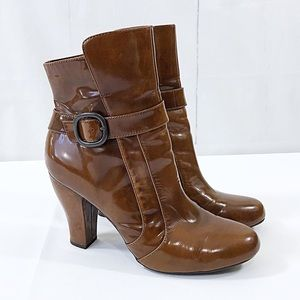 BORN Emie Crown Leather High Heel Ankle Boots 11